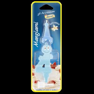 Candelina mangiami azzurra numero 4