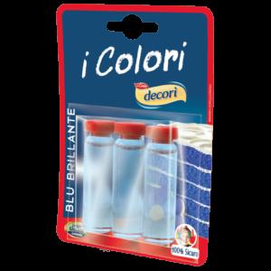 Colore liquido blu brillante