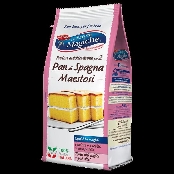 Farina autolievitante per 2 Pan di Spagna Maestosi - Fronte