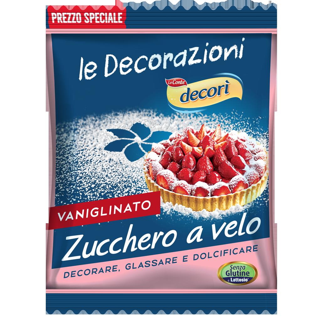 Zucchero a velo vaniglinato farine for Decorazioni zucchero a velo